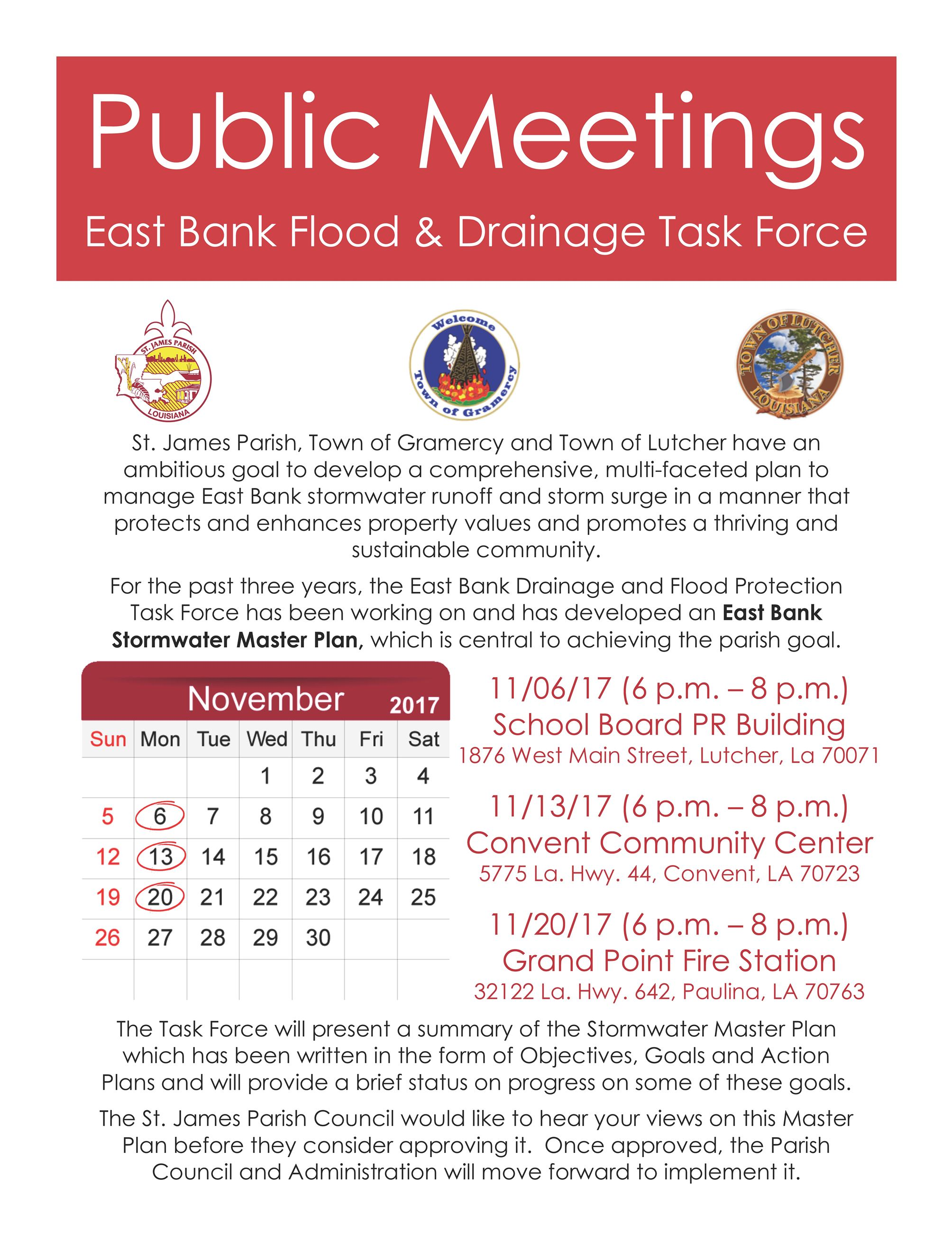 Public Meeting Flyer - November 2017